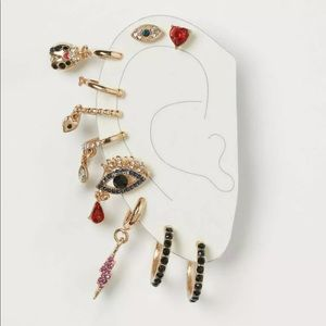 The Vampire's Wife X H&M Earring Cuff Charm Set